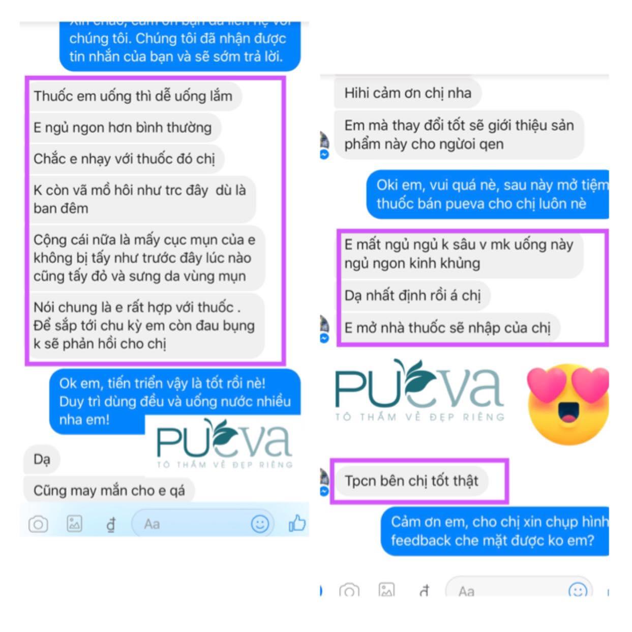 review nội tiết tố nữ Pueva