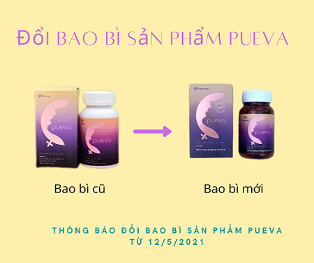 thông báo đổi bao bì sản phẩm Pueva